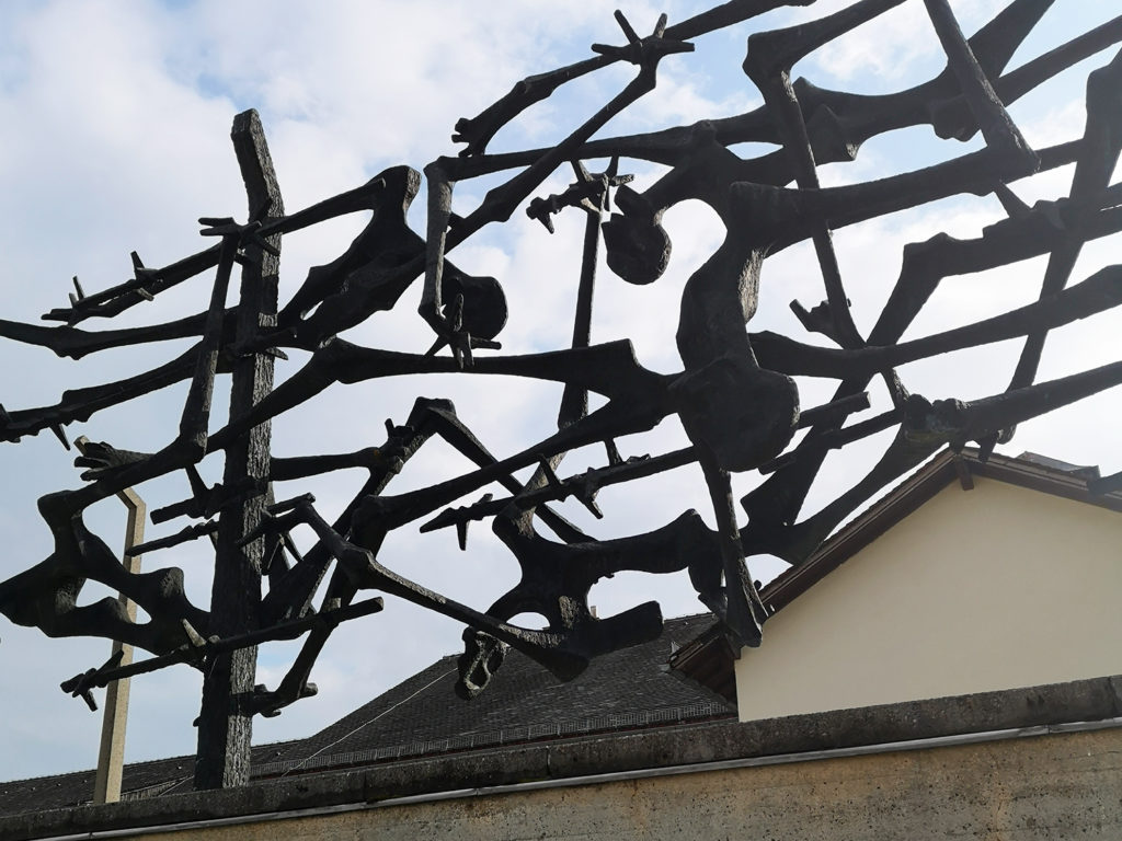 Monumento conmemorativo a las víctimas, en las instalaciones del antiguo campo de Dachau