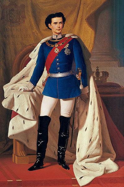 Luis II, ataviado como militar. / BAYERISCHE SCHLÖSSER