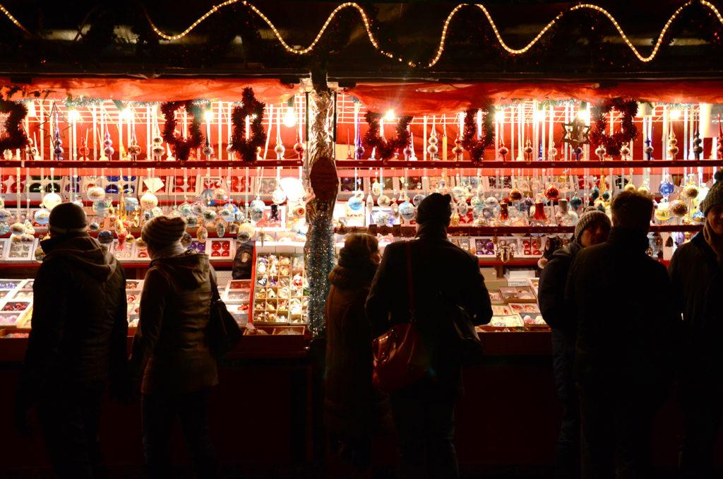 Puesto en el Christkindlmarkt de Múnich, mercadillos navideños múnich