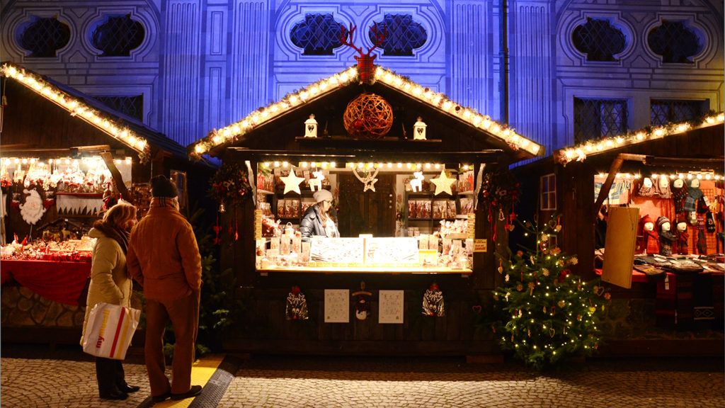 Puesto en un mercadillo navideño de Múnich