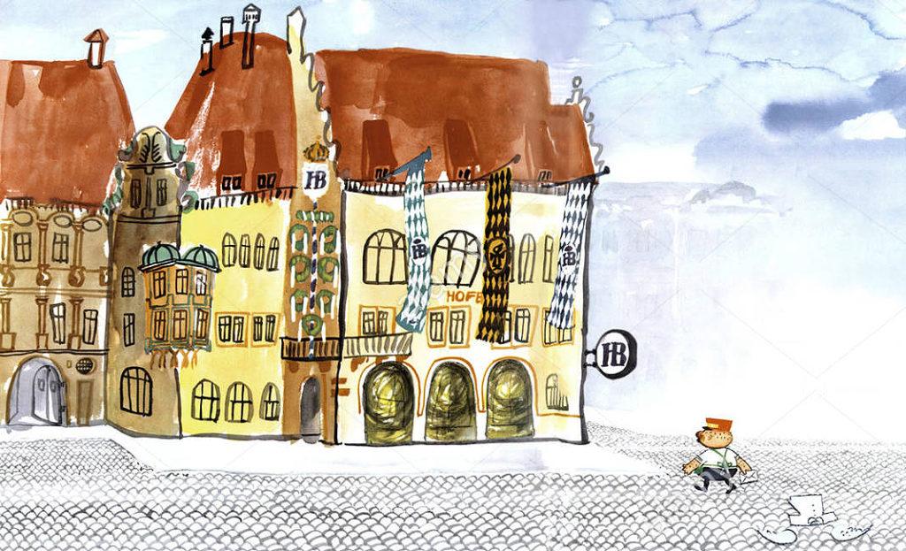 Ilustración de la historia de Aloisius y la Hofbräuhaus. /@aligenesio