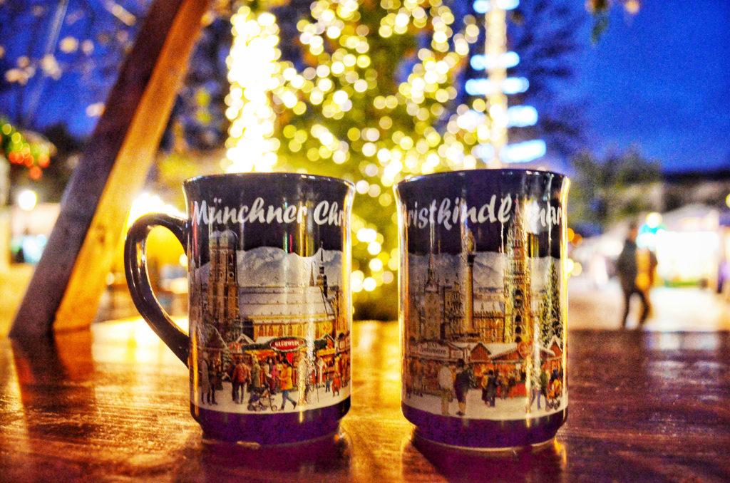 mercadillo navideño, christkindlmarkt munich, glühwein