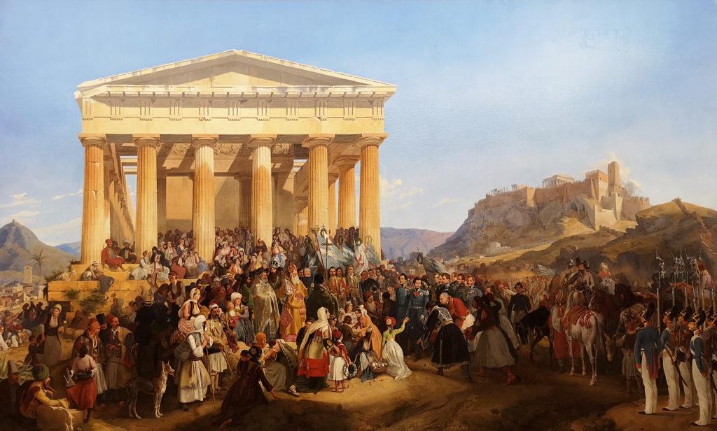 Recepción del rey Otón de Grecia en Atenas, de Peter von Hess