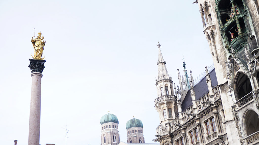 columna de maría, qué ver múnich tres días, marienplatz
