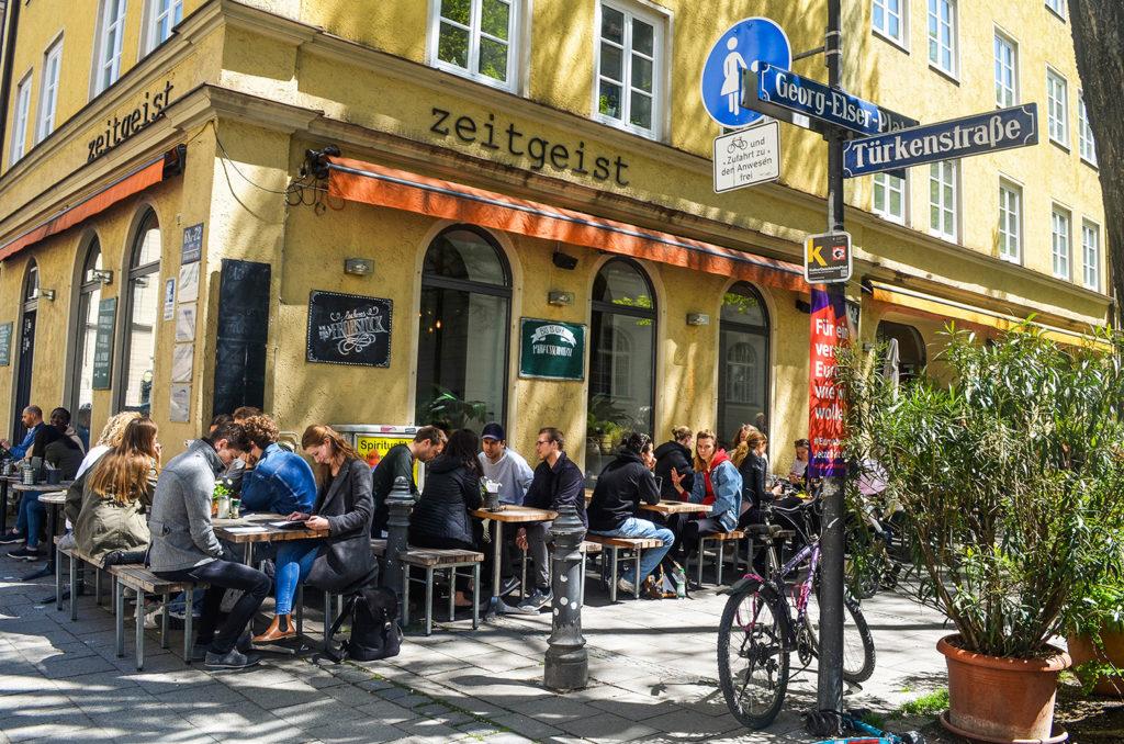 lugares para comer en el barrio universitario de múnich